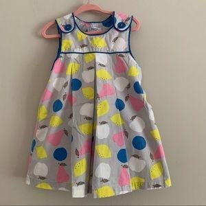 NWOT Baby Boden fruit dress size 18-24 months